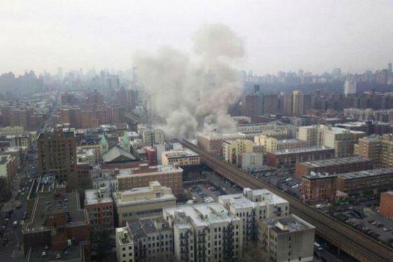 Dos edificios se derrumbaron en Nueva York luego de una explosión