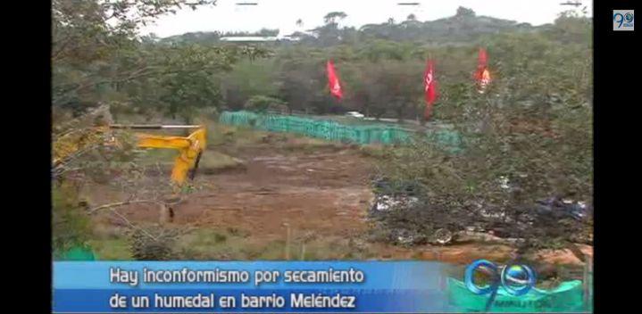 Comunidad del barrio Meléndez denuncia daño ambiental