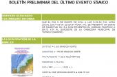 Reportan sismo de 5.4 grados en Tumaco, costa pacífica de Nariño