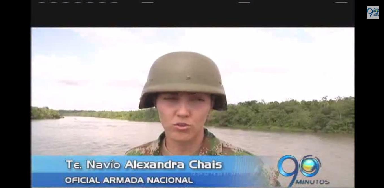 Mujeres de la Armada Nacional patrullan ríos de la Costa Pacífica