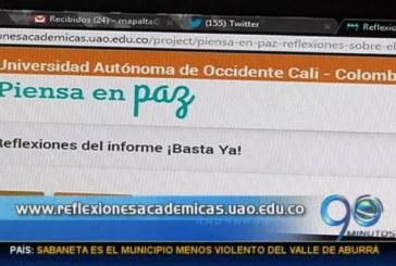 La Universidad Autónoma de Occidente lanzó el portal 'Piensa en Paz'