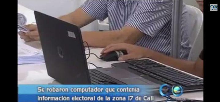 Denuncian robo de computador de la Registraduría