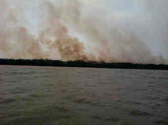 Emergencia en Unguía, por incendio forestal