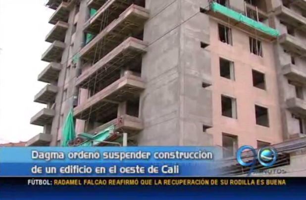 Dagma suspende construcción por incumplimiento