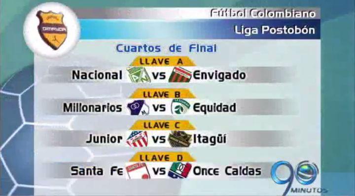 Así quedaron las series por cuartos de final de la Liga colombiana