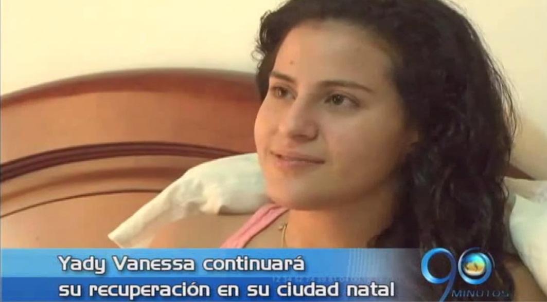 Regresó a Colombia Yady Fernández para continuar su recuperación