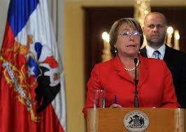 Presidenta de Chile, Michelle Bachelet declaró catástrofe en tres regiones