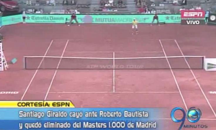 Santiago Giraldo quedó eliminado del Masters 1.000 de Madrid