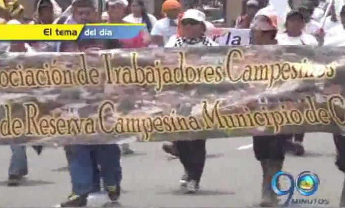 Las marchas campesinas llegaron a Popayán