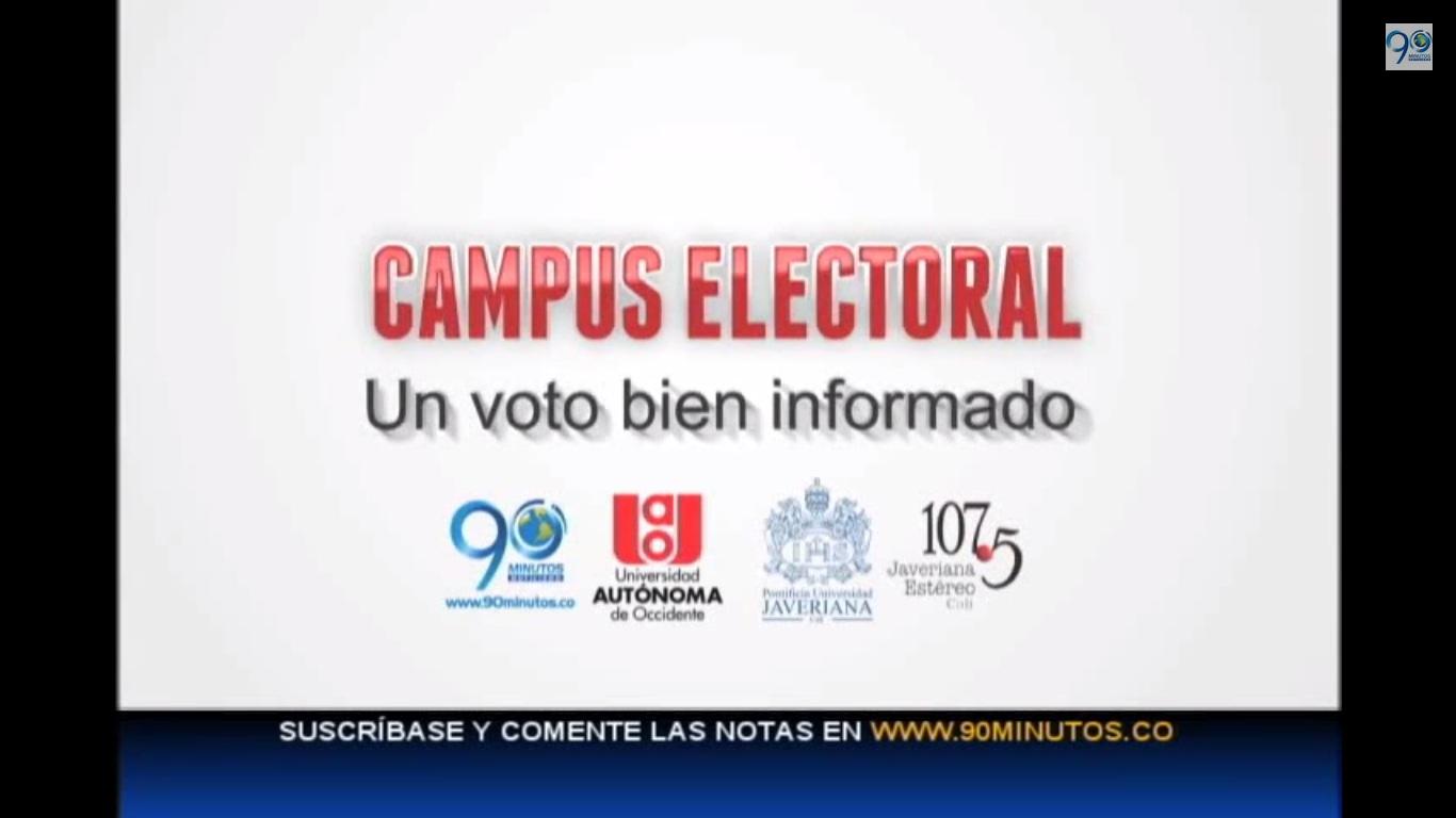 Candidatos a la presidencia en la Agenda Electoral de 90 Minutos