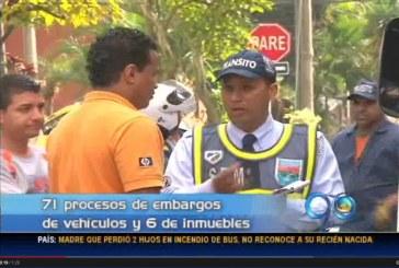 Secretaría de Tránsito advierte sobre embargos a morosos