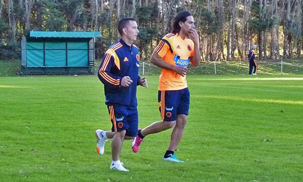 Radamel Falcao entrenó con la Selección Colombia en Argentina