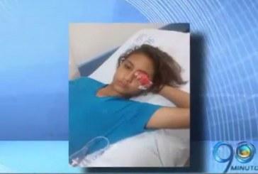 Joven resultó herida en un ojo en marcha del Día del Trabajo