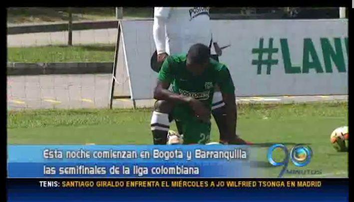 Esta noche inician las semifinales de la liga colombiana