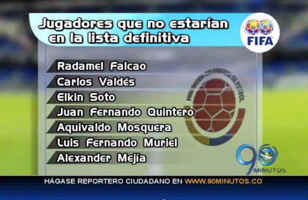 Expectativa en Colombia por conocer lista para el Mundial 2014
