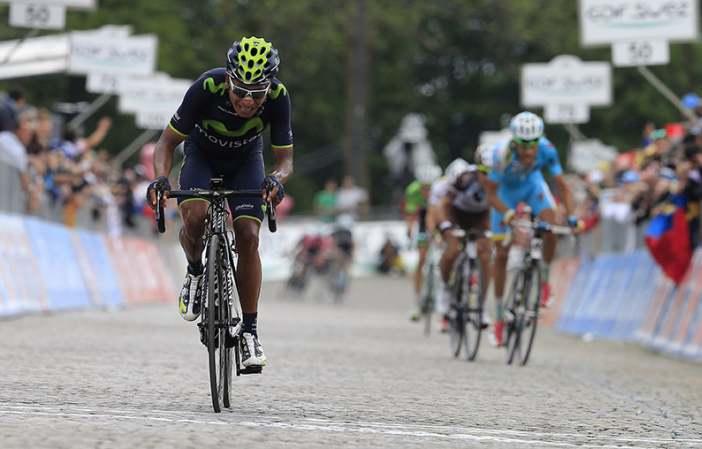 """""""No he pensado nunca en abandonar el Giro"""", Nairo Quintana."""