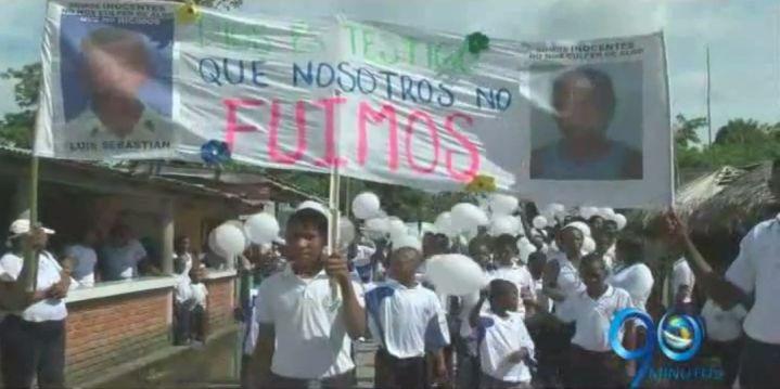 Rechazan señalamientos de relación entre niños fallecidos con la guerrilla en Nariño