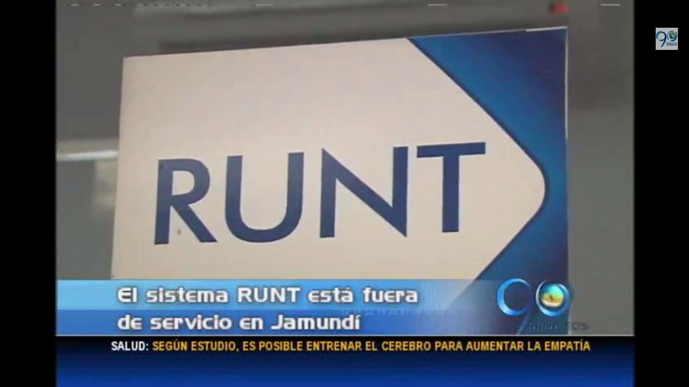 El sistema RUNT lleva diez días sin funcionar en Jamundí