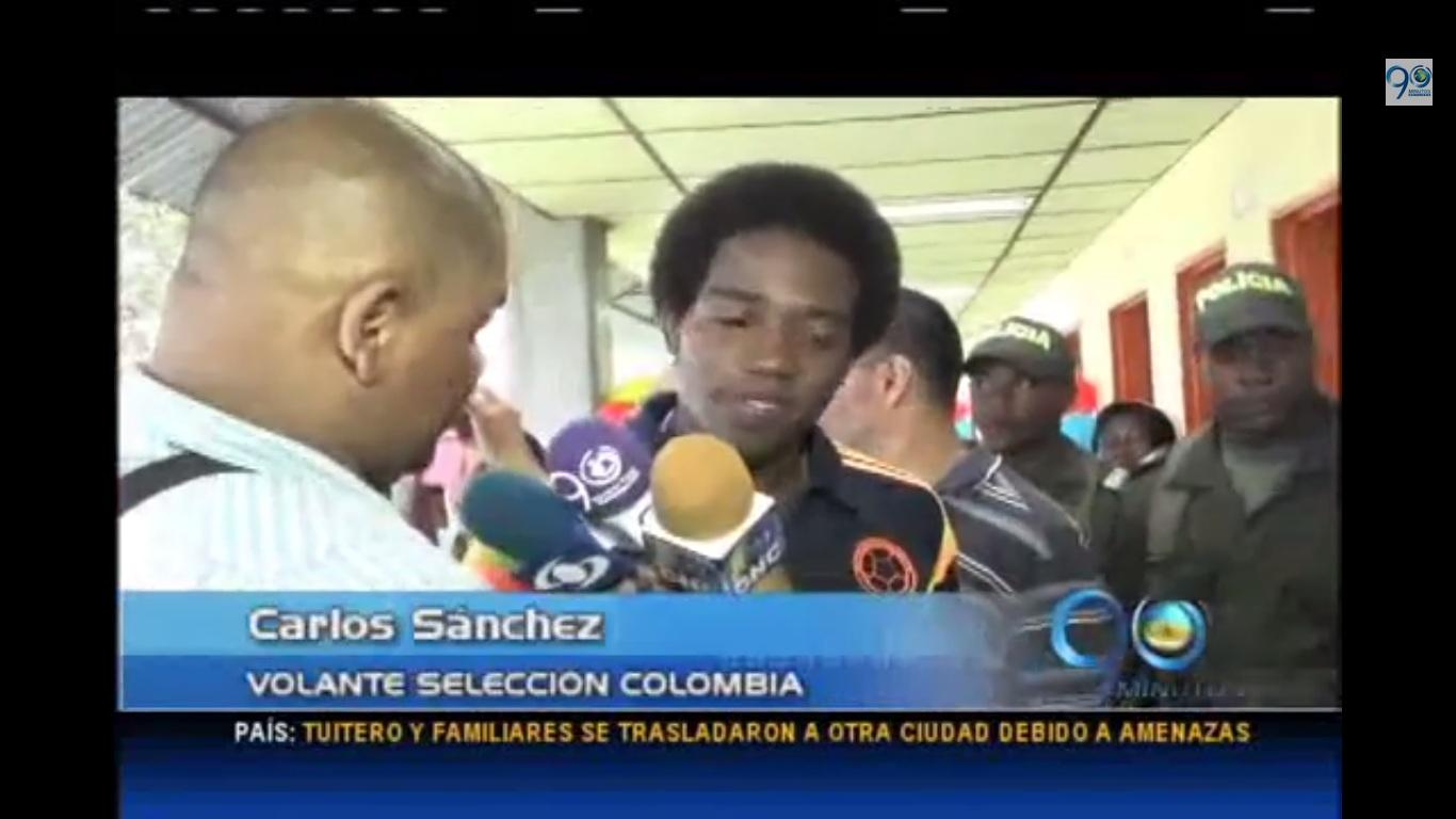 Jugadores de la Selección Colombia visitaron un hospital en Quibdó