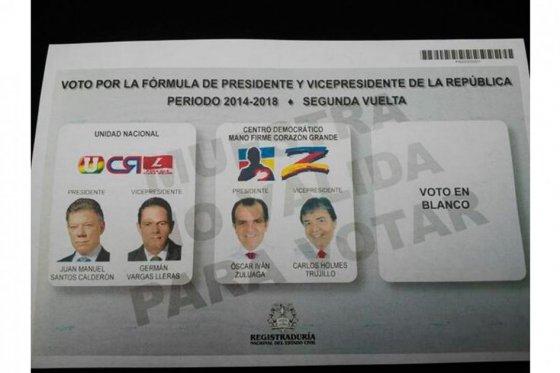 Segunda vuelta presidencial tendrá un costo de 180 mil millones de pesos