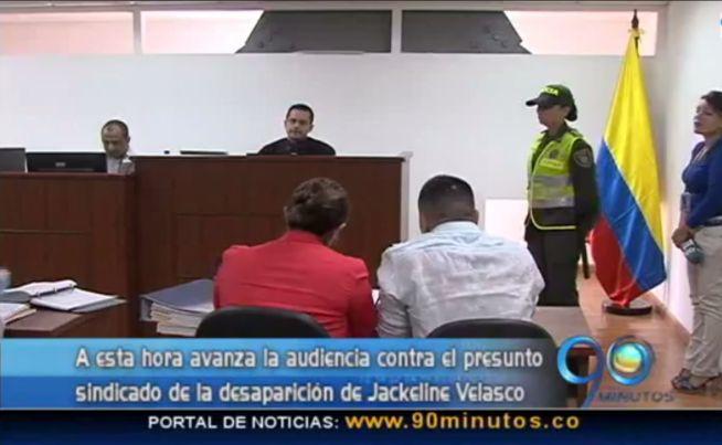 Se realizó audiencia contra el sindicado de la desaparición de Jackeline Velasco