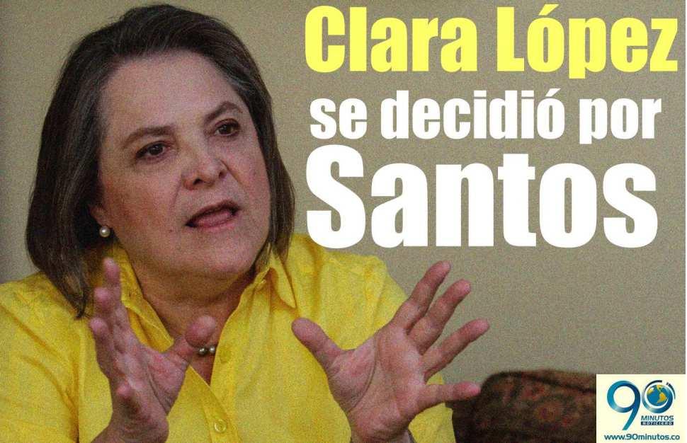 Clara López anunció su apoyo a Santos en segunda vuelta