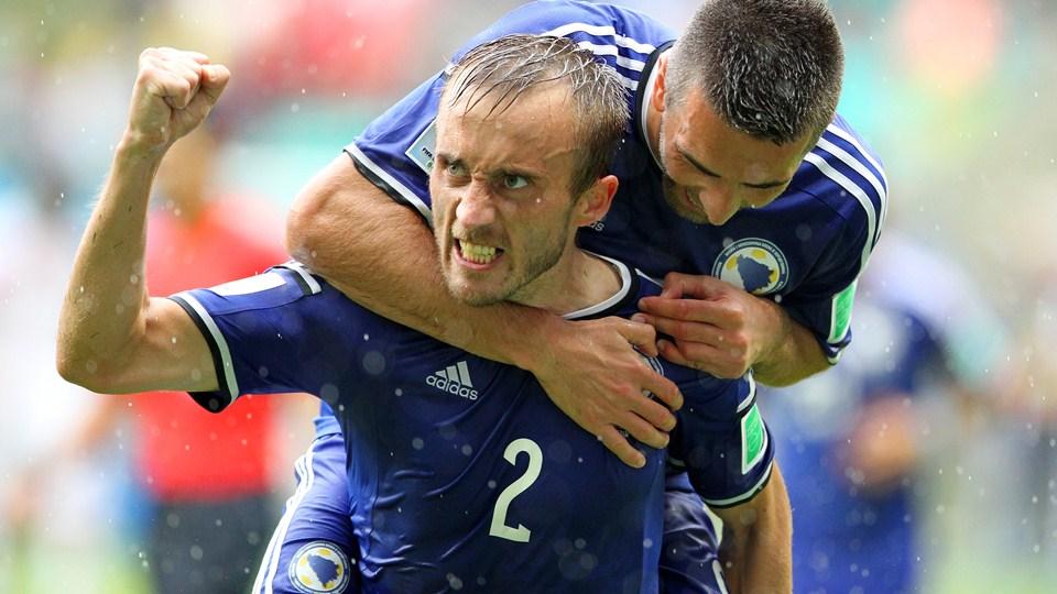 Primera victoria de Bosnia y Herzegovina en un Mundial