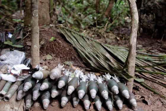 Encuentran caleta con 500 kilos de explosivos en el Cauca