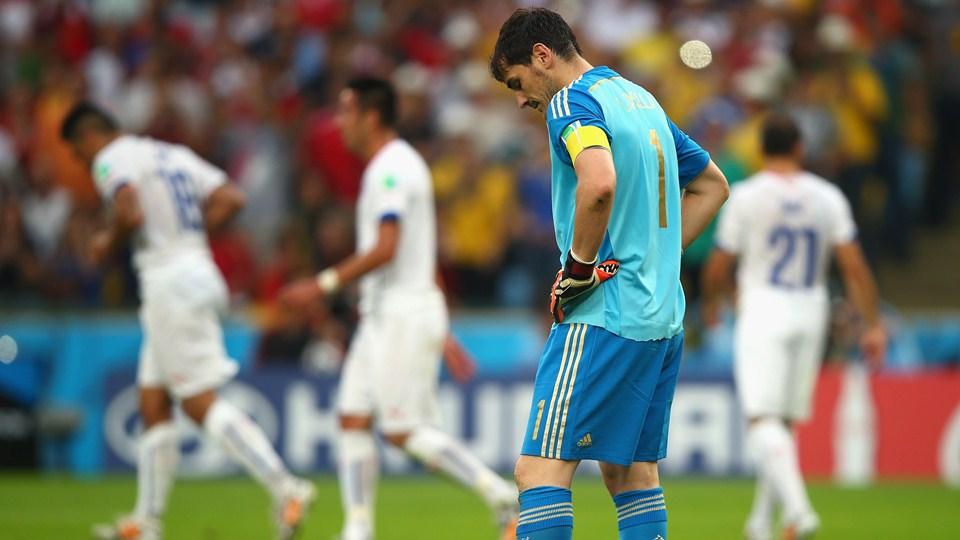 España se despide de Brasil 2014 al ser derrotado por Chile