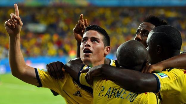 Colombia goleó a Japón y se clasificó invicta a octavos