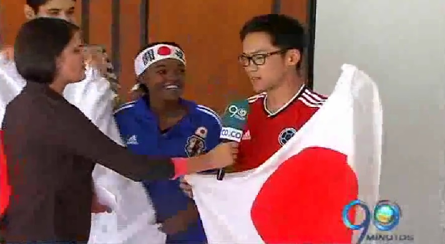 Colonia japonesa en Cali también gritó el gol de su equipo