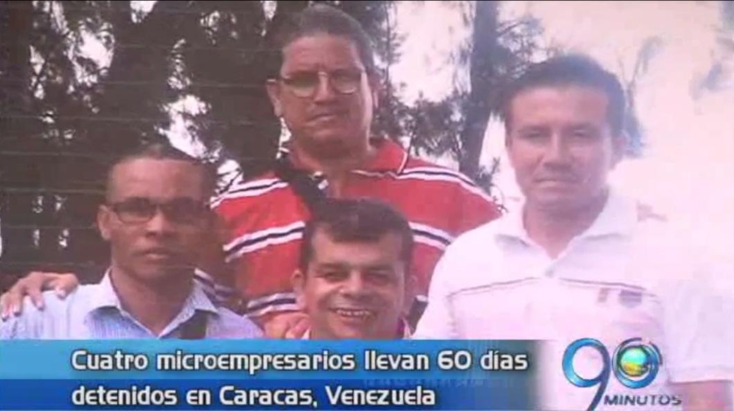 Cumplen 60 días detenidos en Venezuela microempresarios colombianos