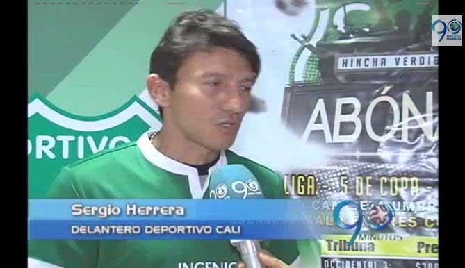 El delantero Sergio Herrera vuelve al Deportivo Cali
