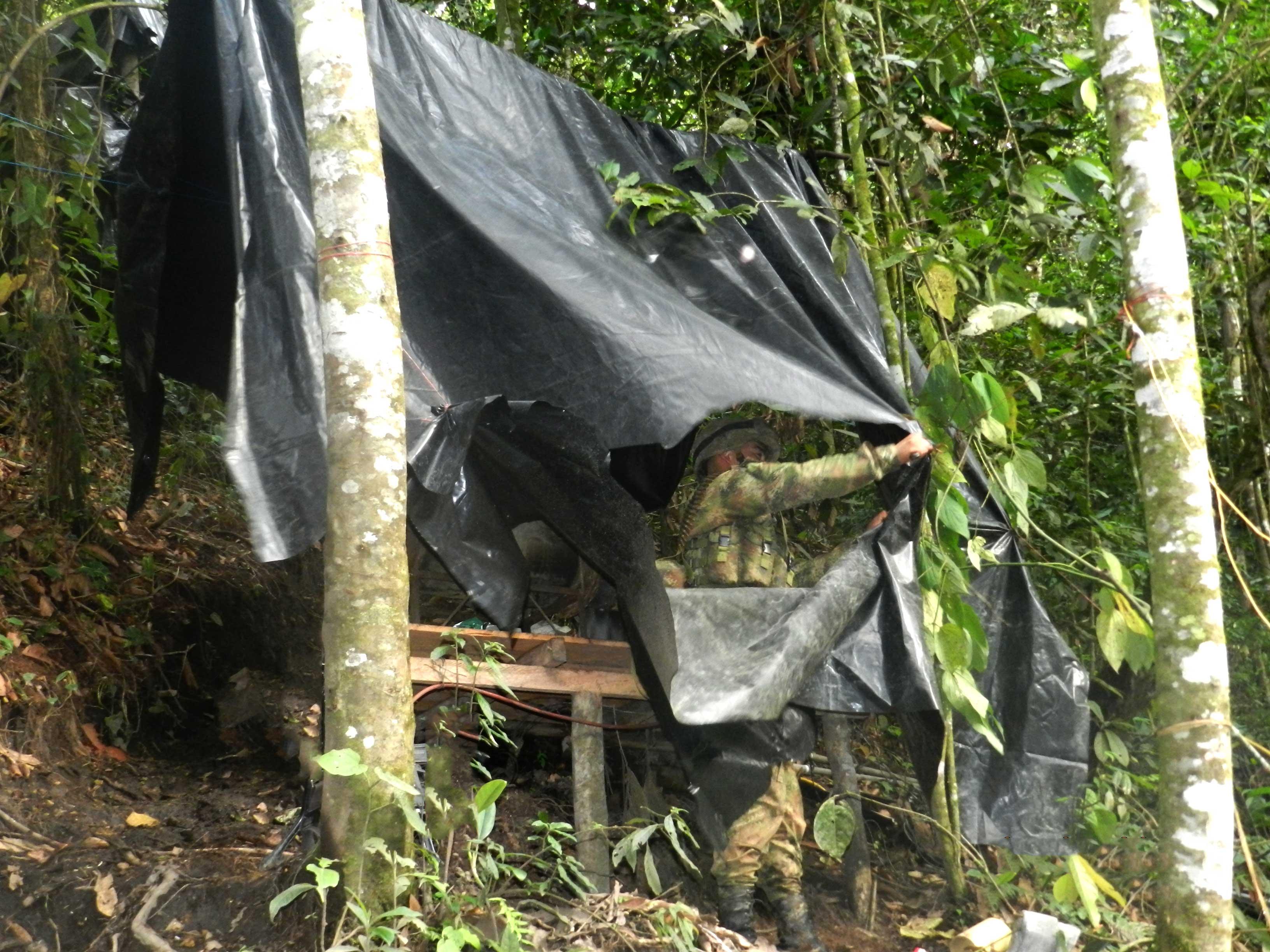 Desmantelan campamento de las Farc en el Cauca