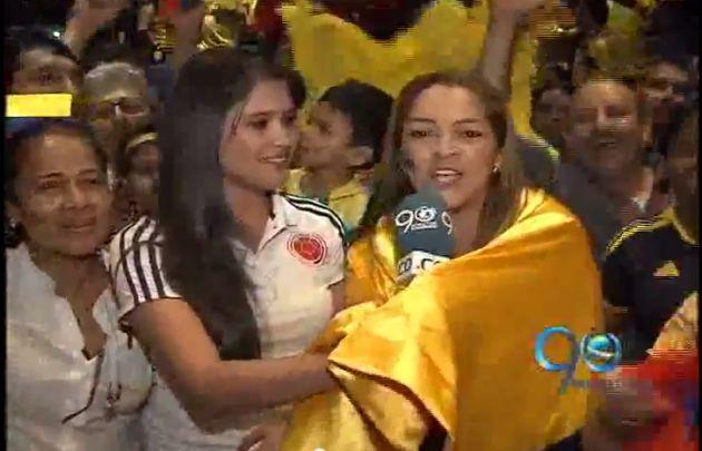 Euforia en la Universidad Autonoma por la victoria colombiana en el Mundial
