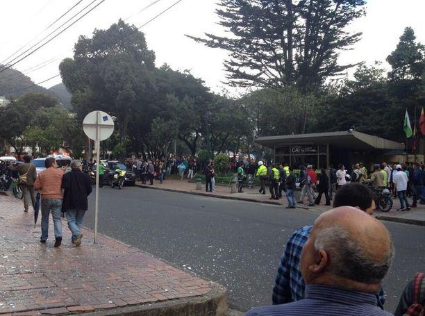 Tres heridos dejó explosión en barrio Lourdes de Bogotá