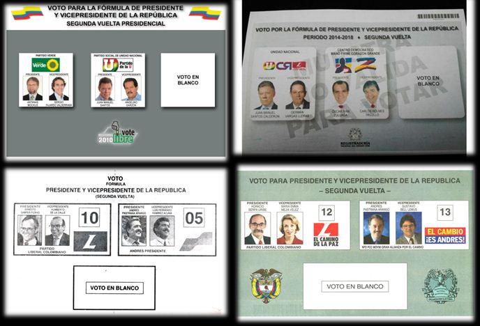 Histórico de las Segundas Vueltas Presidenciales en Colombia