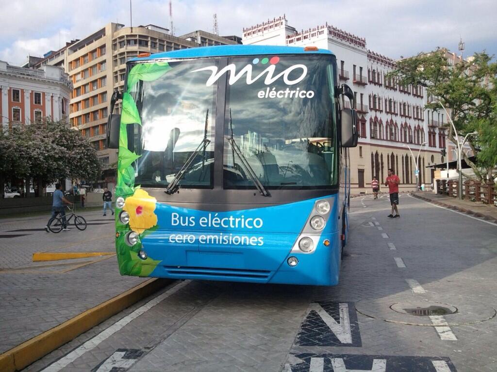 Metrocali presenta prototipo de bus eléctrico para el MÍO