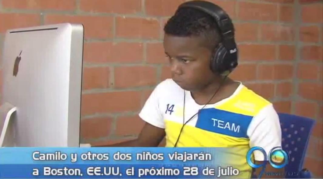 Niño talento de Aguablanca expondrá proyecto en EE.UU