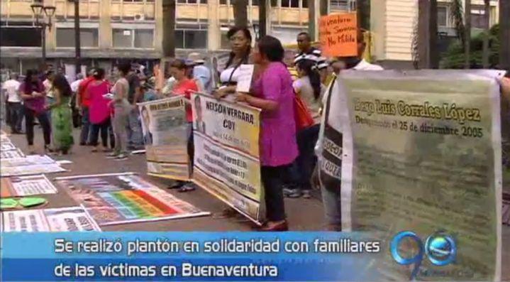 Con plantón se pidió recordar a víctimas del conflicto en Buenaventura
