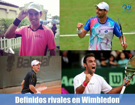 Colombianos ya tienen definidos sus rivales en Wimbledon