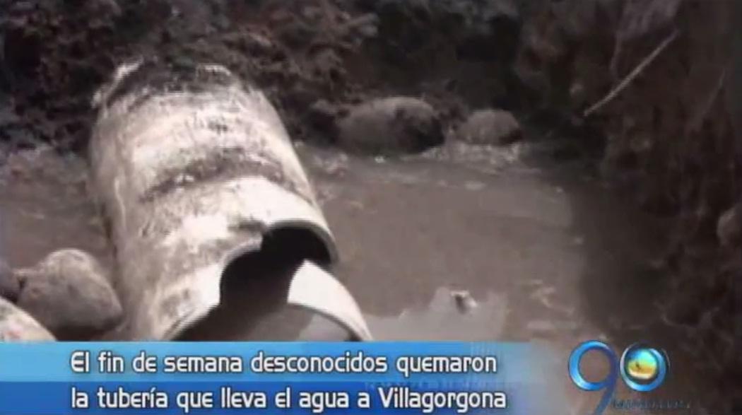 Obras de acueducto de Villagorgona saboteadas nuevamente