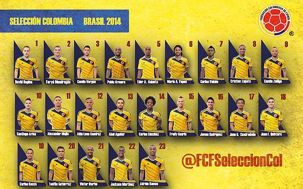 Estas son las cartas de la Selección Colombia para Brasil 2014