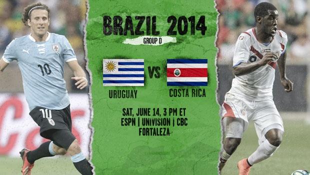 Uruguay y Costa Rica: primer partido del Grupo D