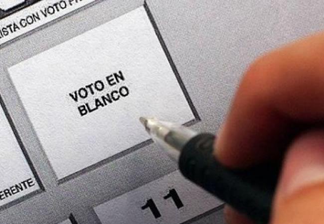 El voto en blanco en segunda vuelta no surte efecto