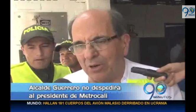 Alcalde de Cali no pedirá la renuncia al presidente de Metrocali