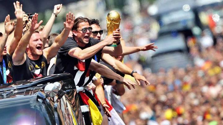 Así recibió Alemania a los campeones fe la Copa del Mundo