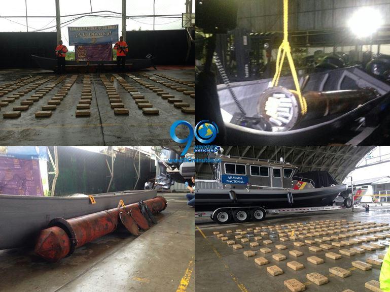 Incautados 196 kilos de cocaína transportados en un cilindro
