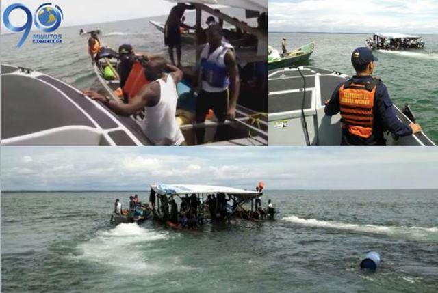 Armada Nacional rescata dos embarcaciones en Buenaventura