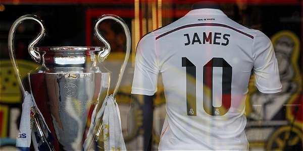 Camiseta de James sería récord del Madrid, 350 mil vendidas
